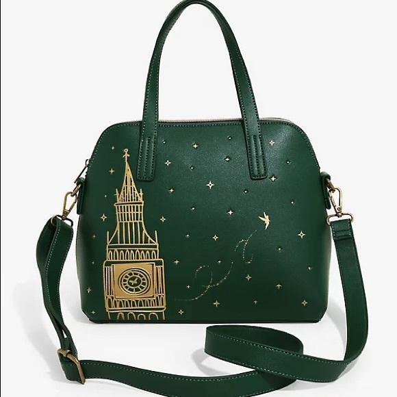 Disney Peter Pan Big Ben London Green Satchel Bag